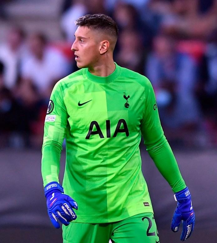 Tottenham were given a UEFA warning due to the shape of the logo on Pierluigi Golini's gloves