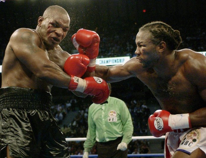 Mike Tyson was ousted by Lennox Lewis in 2002