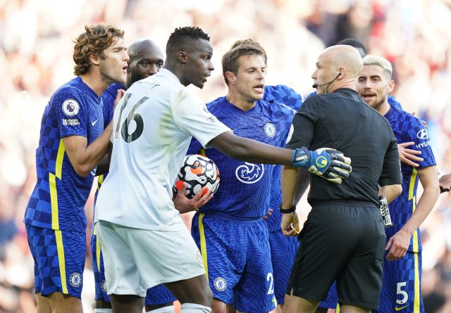The Blues were furious of referee Anthony Taylor's decision