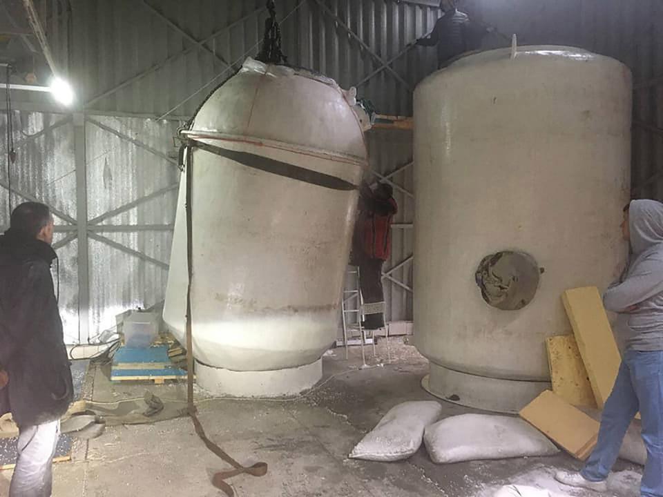 They drained liquid nitrogen from giant dewar flasks