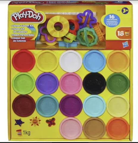 Playdough's super colour kit costs £11 at Argos