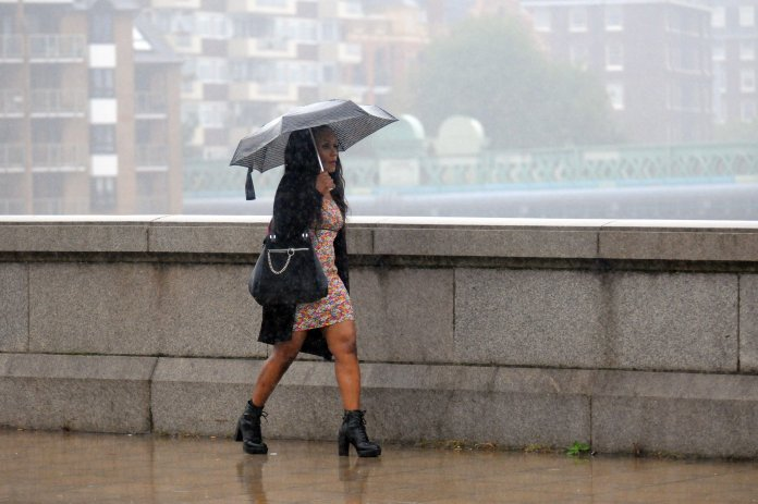 But forecasters say it will rain on Saturday and Sunday