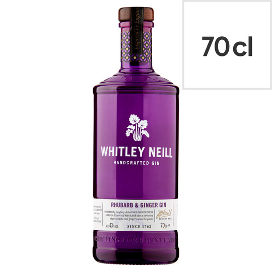 Grab a bottle of Whitley Neill rhubarb ginger gin for £20 with a Tesco Clubcard and save £6