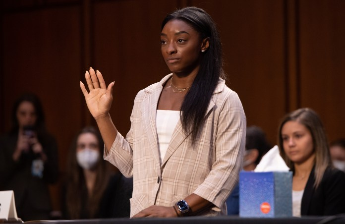 She told Capitol Hill the FBI, USA Gymnastics, and the US Olympic and Paralympic Committee about Larry Nassar failing athletes.