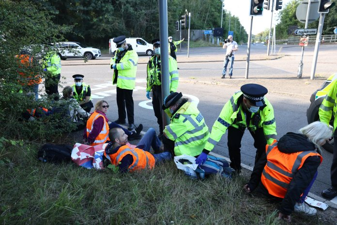 Insulate Britain attempted to block the M25 at Junction 18 near Rickmensworth