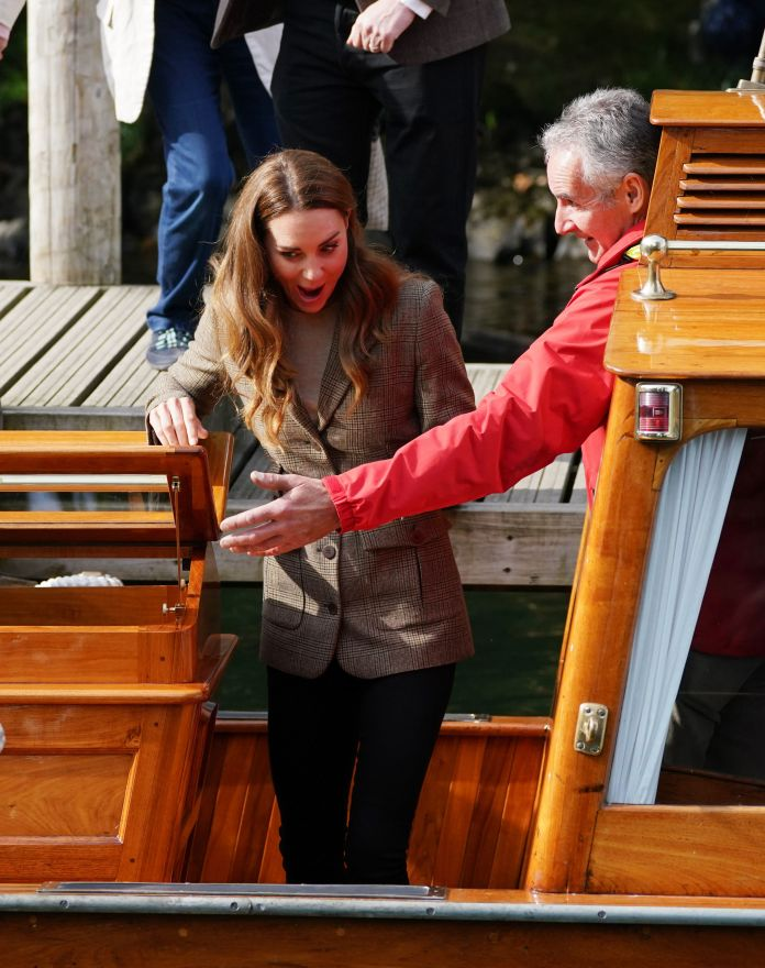 she smiled as she boarded the boat
