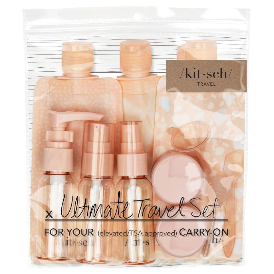 Kitsch 11-piece travel bottle set is just £8 at Boots