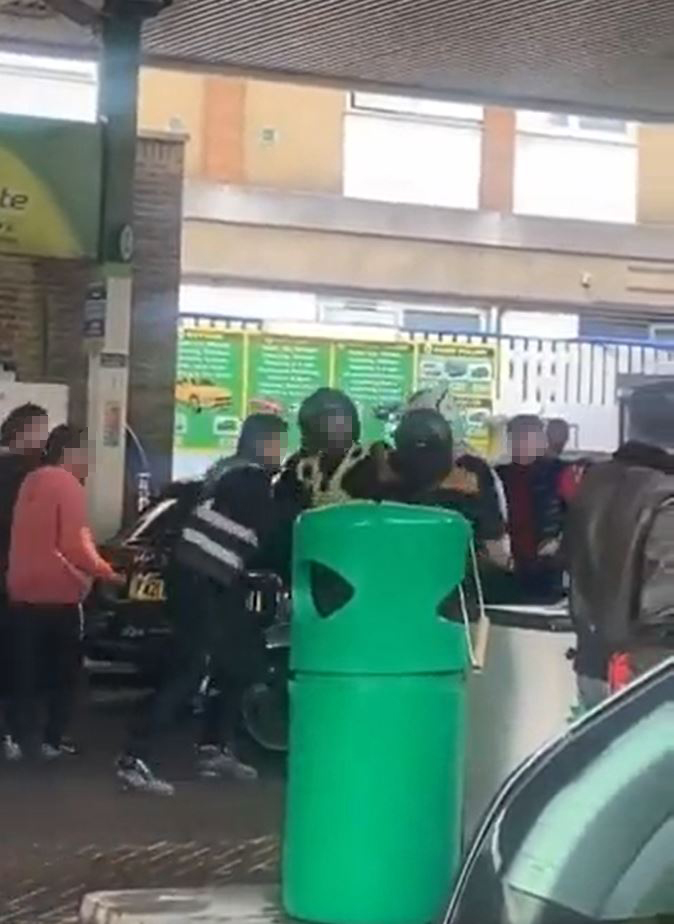Tension flares up at a BP garage in Camden, north London