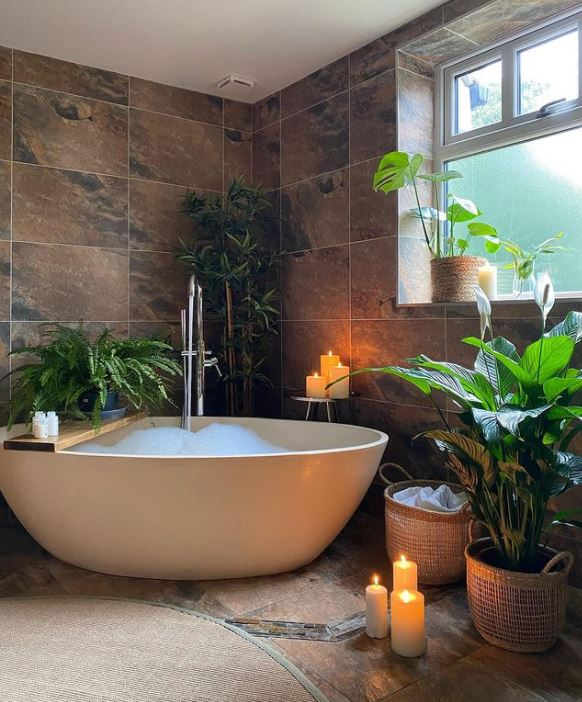 Bathroom is a paradise to relax and unwind
