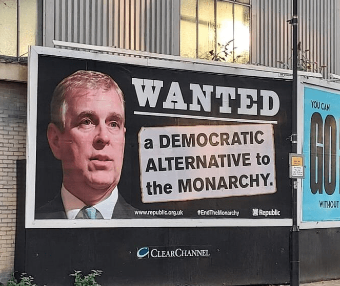 Another of the 'Wanted' billboards put up in London