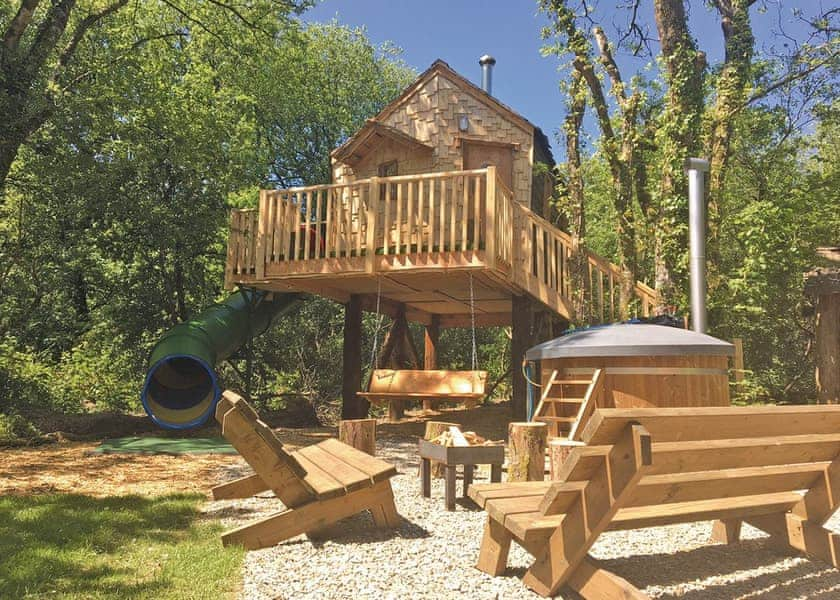 Pyatts Nest Treehouse in South Wales is perfect for a fun family holiday
