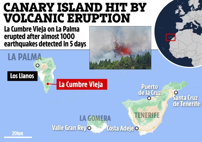 Volcanic eruption started last Sunday