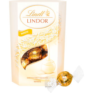 Lindt Lindor white chocolate truffles are just £3.50, down from a fiver, with a Tesco Clubcard