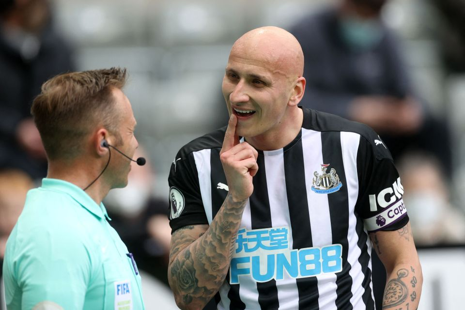 Shelvey has been side-lined at the start of this season with a calf injury