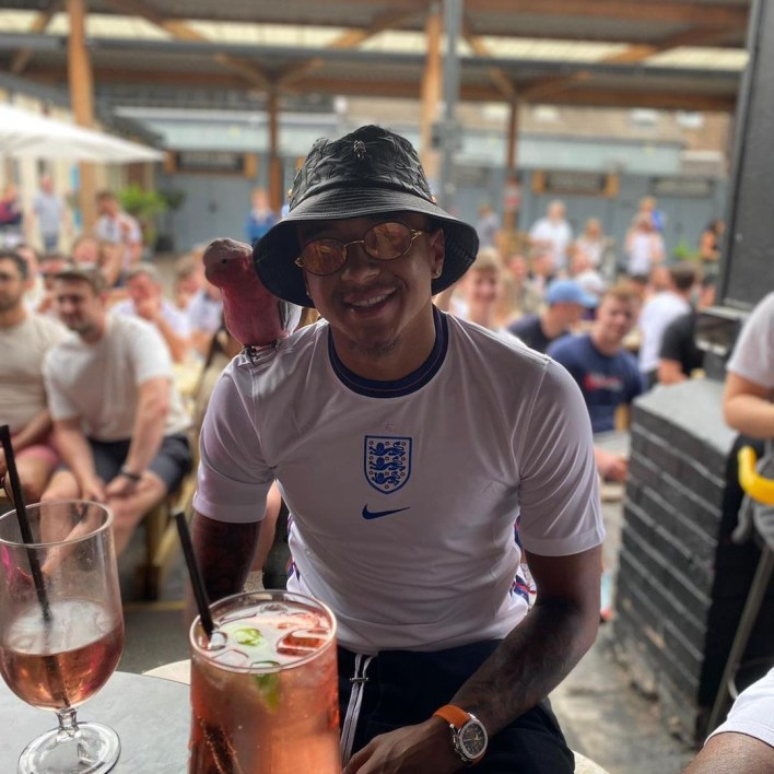 Lingard turned to supporting England from the pub during the Euros