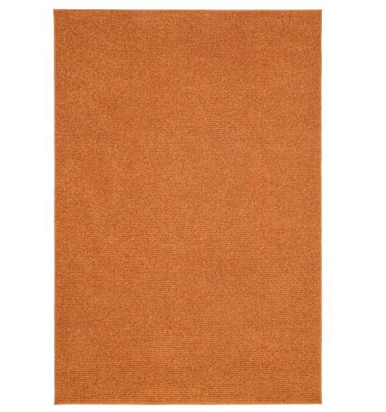 Sporup rug from Ikea in burnt orange