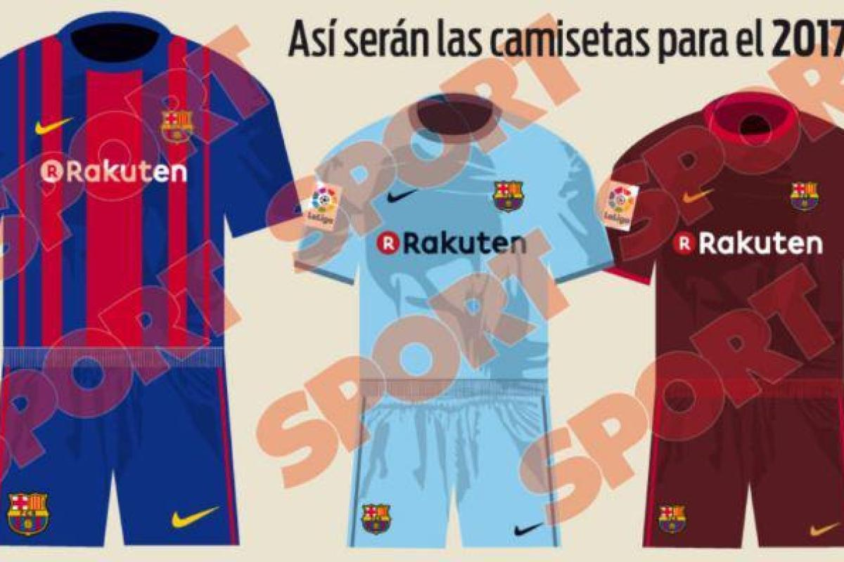 best service e70be 3dd51 Leaked Barcelona kit: New 2017-18 Rakuten and Nike home ...