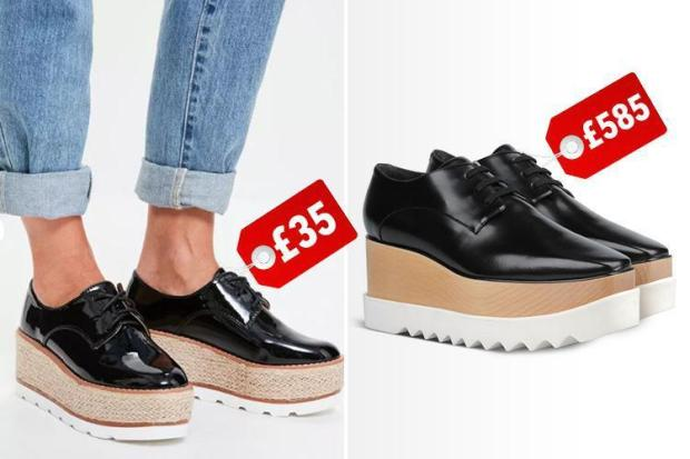 41cc06302169 Sole mates. These £35 Missguided shoes look VERY similar to Stella  McCartney s £585 pair