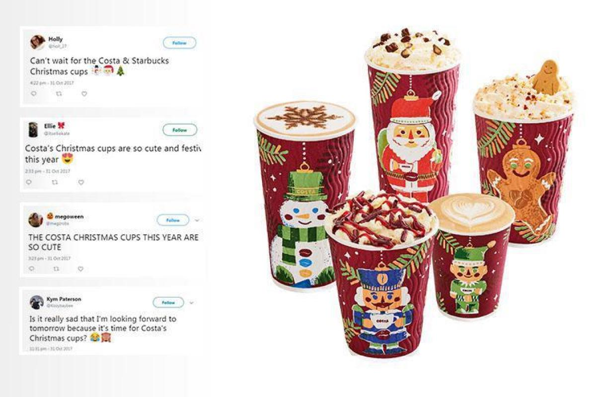 Costa has released their Christmas cup designs of the year... and ...