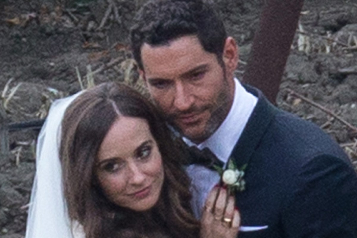 Tom Ellis seen marrying Meagan Oppenheimer in pictures ...