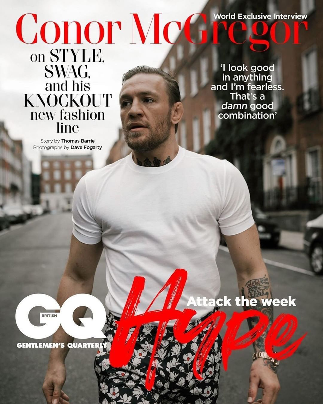 McGregor on the cover of the latest edition of GQ magazine