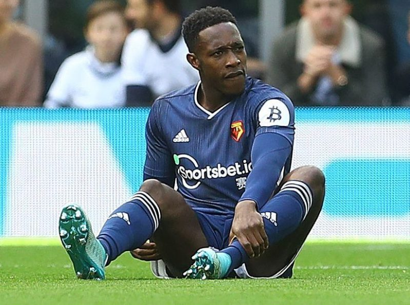 Danny Welbeck injured after just 55 SECONDS... and fans aren
