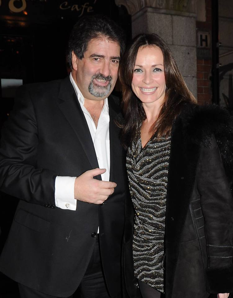 Robbie, pictured here with Sharon Corr, says nightclubs will never make a comeback
