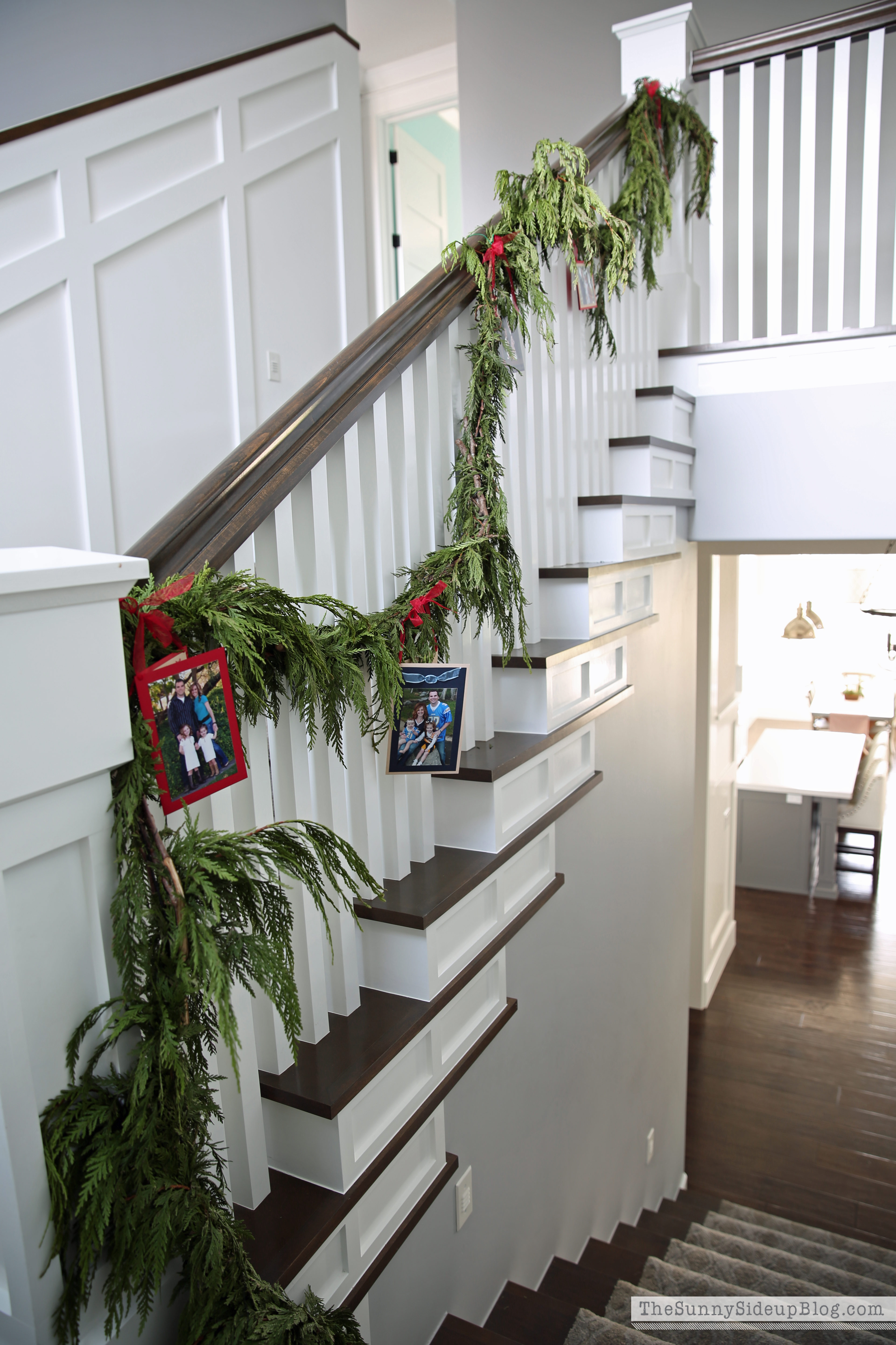 Christmas Card Stair Garland The Sunny Side Up Blog