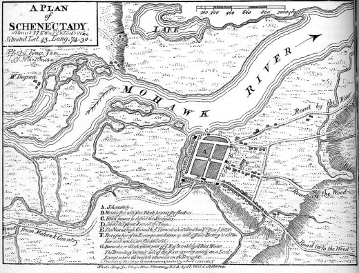 Schenectady Map 1750, Cornelius was born near here in 1774
