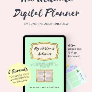 My Wellness Achiever Digital Journal and Planner