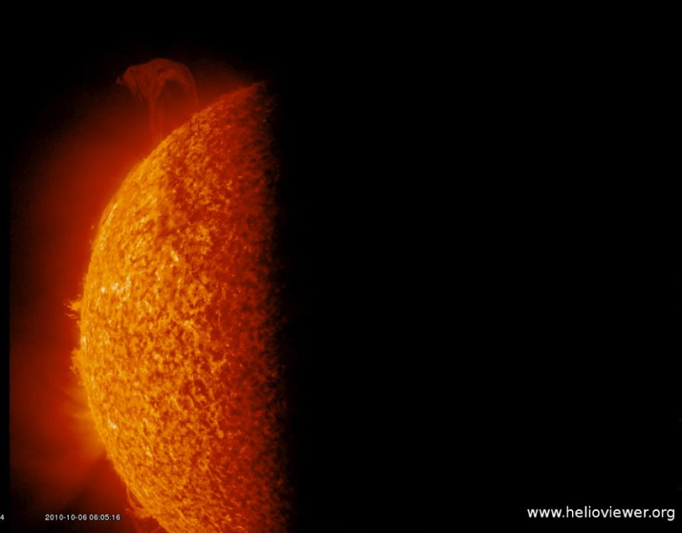 A Solar Eruption as the Earth Blocks SDO's View of the Sun