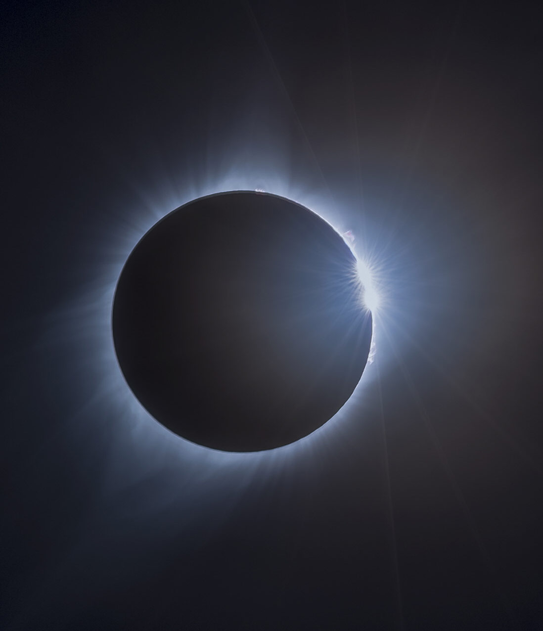 "Total Solar Eclipse ""Diamond Ring"" - Image Credits: NASA/Rami Daud, Alcyon Technical Services"