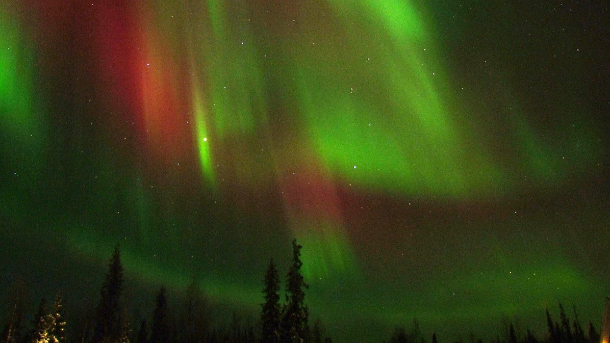 This aurora, photographed in Finland, was a beautiful side effect of a geomagnetic storm in February 2012.