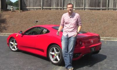 Doug de Muro with his Ferrari 360