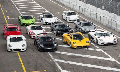 Supercars pose for the lense