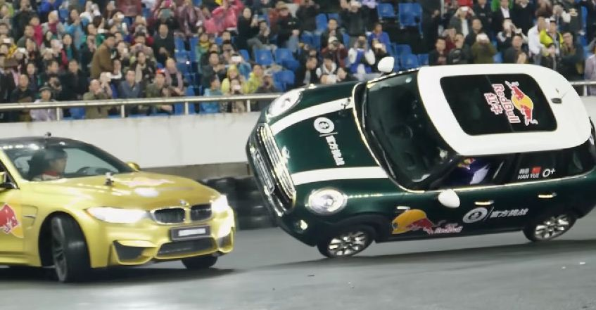 BMW M4 rolling donut world record