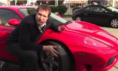 Doug deMuro with his Ferrari 360