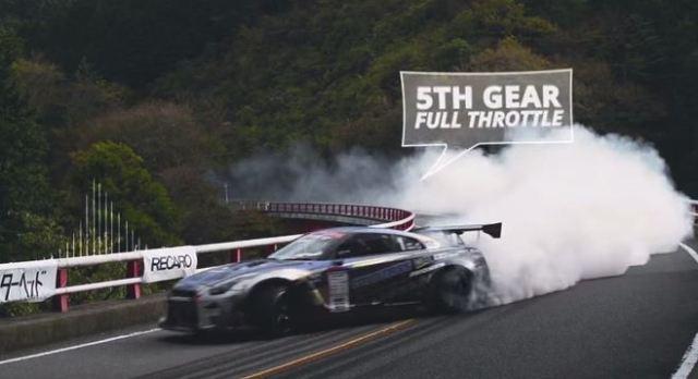 Nissan GTR tears up the hill