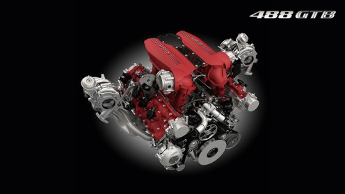 Ferrari 488 GTB V8 Twin Turbo engine image
