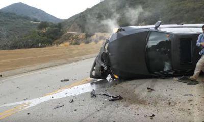 Noob crashes BMW at Mullholland