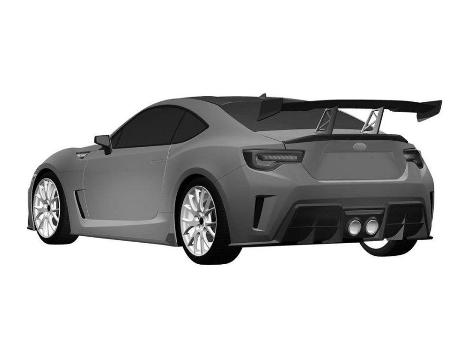 Subaru BRZ STI Toyota GT86 TRD Scion FRS patent