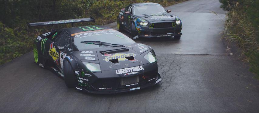 #BattleDrift Vaughn vs Daigo Mustang RTR v Lamborghini Murcielago Monster Energy