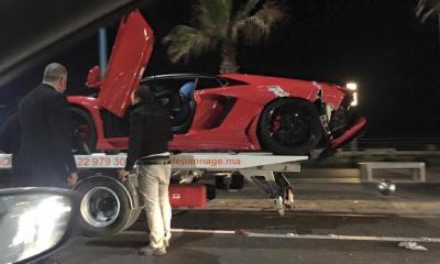 Lamborghini Aventador Roadster Crashed in Morocco
