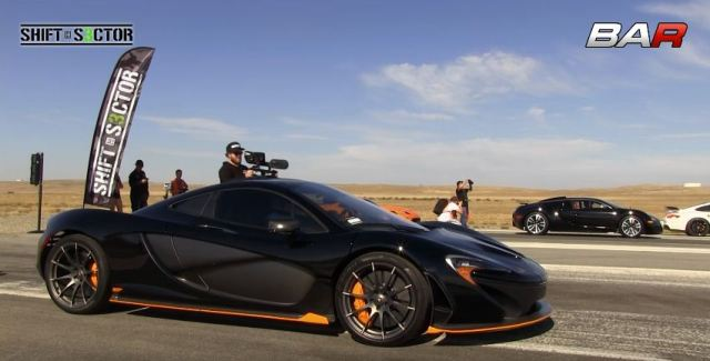 McLaren P1 vs Bugatti Veyron in World's Greatest Drag Race