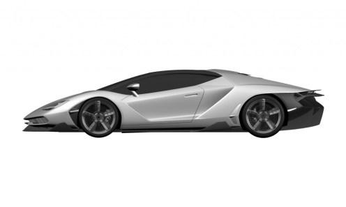 Lamborghini Centenario LP770-4 Patent Drawings-2016 Geneva Motor Show-5