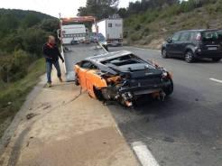 Lamborghini Bicolore Crash in France-3
