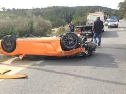 Lamborghini Bicolore Crash in France-5