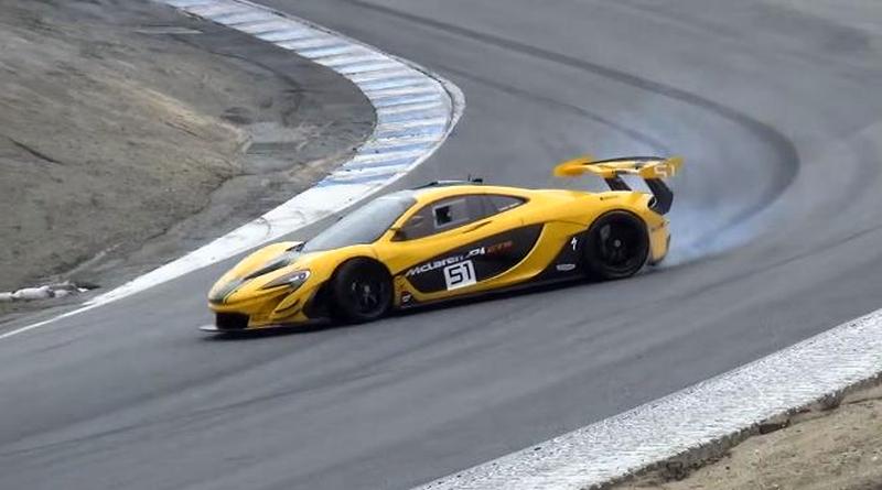 McLaren P1 GTR almost crashes at Laguna Seca