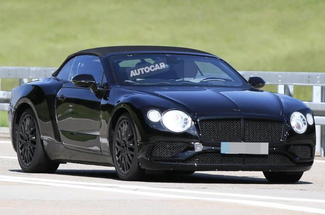 2018 Bentley Continental GT Convertible-spy shots-1