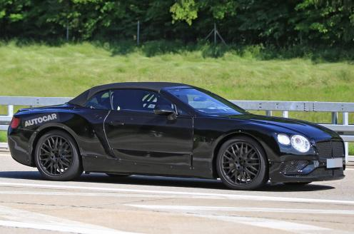 2018 Bentley Continental GT Convertible-spy shots-2